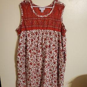 Vintage | Red Floral Kaftan